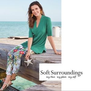 NEW Soft Surroundings In Bloom Floral Pants